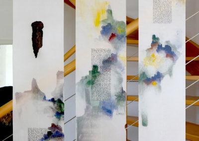 6 Ariane, mylar, acryl, acrylic plaster, 25X350cm*